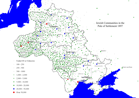 Jewish Communities in the Pale of Settlement 1897