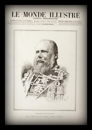 King Willem III depicted on the cover of Le Monde Ilustré, Nov. 29, 1890 (six days after his death, two days prior to Ha-Melitz's article)